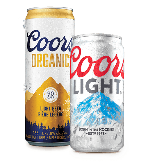Coors Light and Coors Organic Cans
